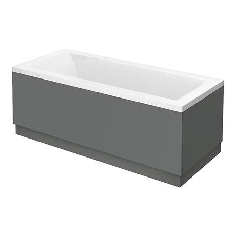 Apollo2 Single Ended Bath + Gloss Grey Panels