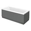 Apollo2 Single Ended Bath + Gloss Grey Panels profile small image view 1