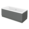 Apollo2 Single Ended Bath + Gloss Grey Panels profile small image view 1