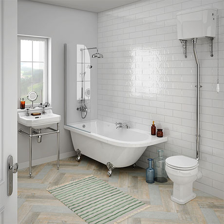 Appleby High Level Traditional Bathroom Suite