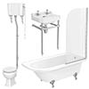 Appleby High Level Traditional Bathroom Suite profile small image view 1