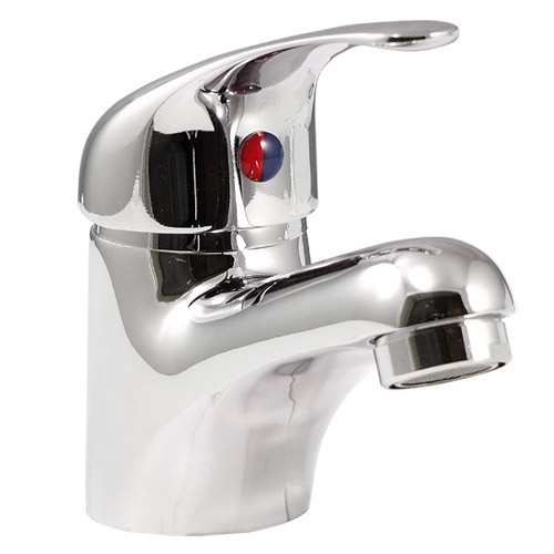 Apollo Contemporary Basin and Bath Shower Mixer Taps - Chrome profile large image view 3