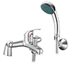 Apollo Bath Shower Mixer with Shower Kit - Chrome profile small image view 1