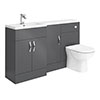 Apollo2 1500mm Gloss Grey Combination Furniture Pack (Excludes Pan + Cistern) profile small image view 1