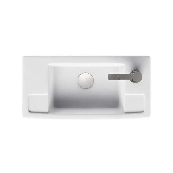 Aqua Cabinets - W505 x D252mm ALLinONE Unit w/ Basin, Brass WC Brush & Toilet Paper Holder - White profile large image view 3