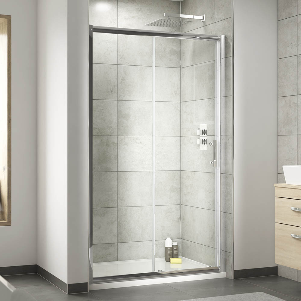 Nuie Pacific Sliding Shower Door - Various Size Options