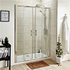Turin 1700mm Double Sliding 8mm Easy Fit Shower Door profile small image view 1