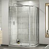 Pacific RH Offset Quadrant Shower Enclosure Inc. Tray + Waste profile small image view 1
