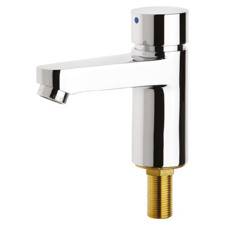 Franke AQUA203 Self Closing Pillar Tap (High Pressure)