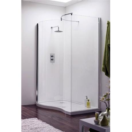 Aegean Universal Walk In Shower Enclosure with Tray & Waste