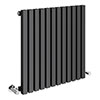 Alaska Modern 600 x 600 Horizontal Anthracite Square Radiator 12 Tubes profile small image view 1