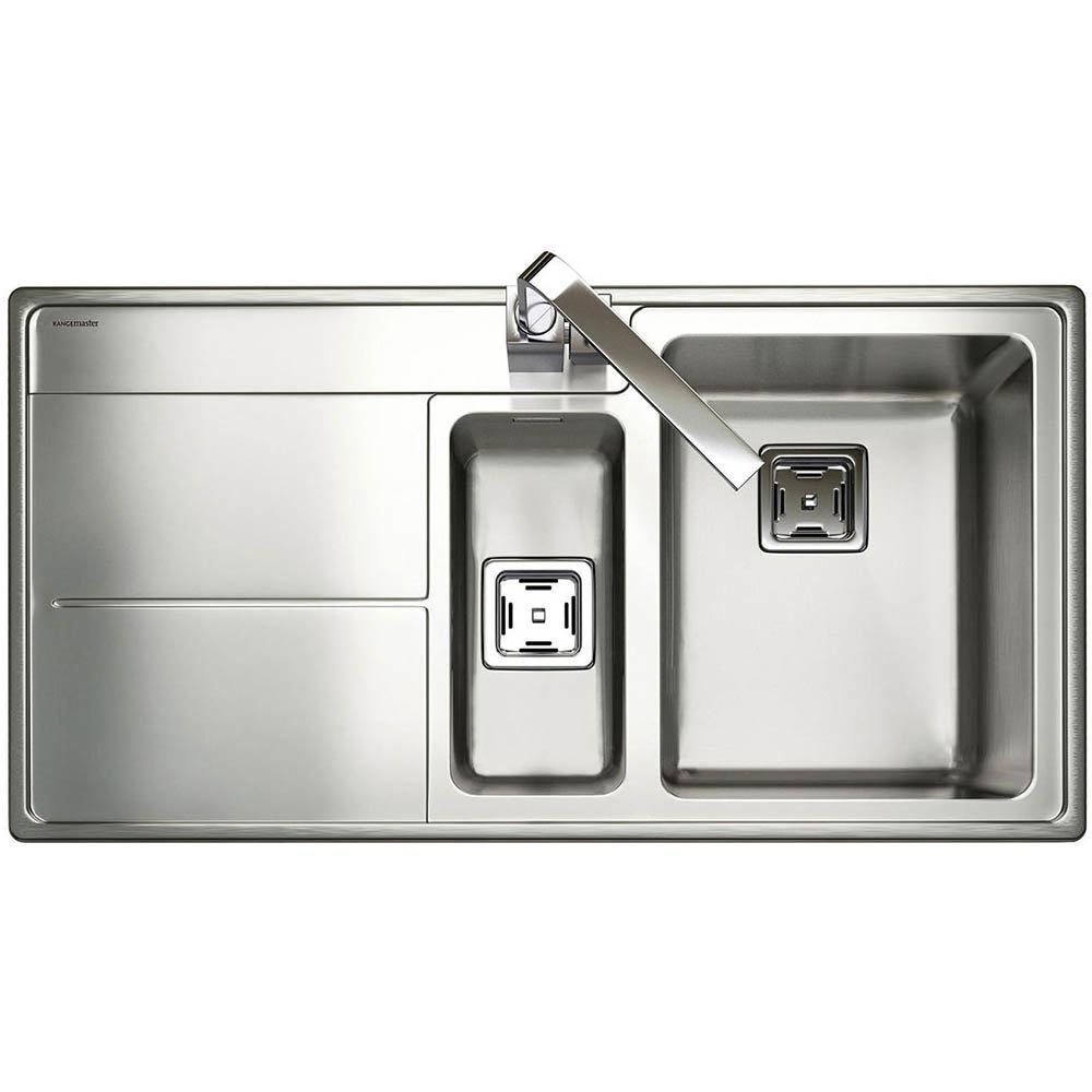 Rangemaster Arlington 1.5 Bowl Stainless Steel Kitchen Sink
