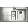 Rangemaster Arlington 1.5 Bowl Stainless Steel Kitchen Sink profile small image view 1
