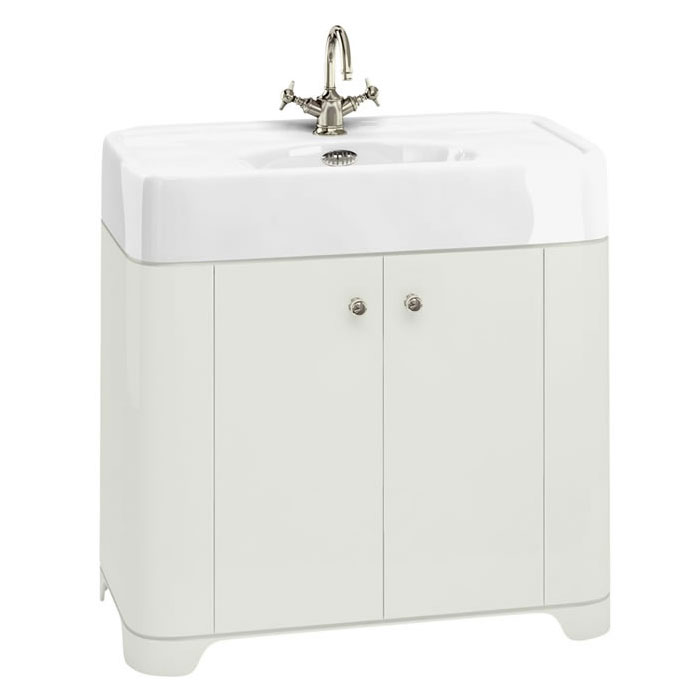 Arcade 900mm Floor Standing Vanity Unit and Basin - Sand - Various Tap Hole Options profile large image view 1