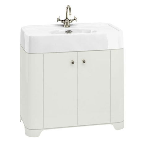 Arcade 900mm Floor Standing Vanity Unit and Basin - Sand - Various Tap Hole Options