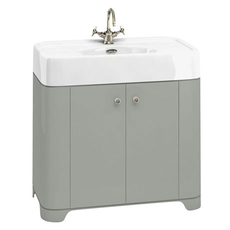 Arcade 900mm Floor Standing Vanity Unit and Basin - Dark Olive - Various Tap Hole Options