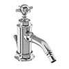 Arcade Bidet Mixer & Pop-up Waste with Tap Handle - Chrome - ARC13-CHR profile small image view 1