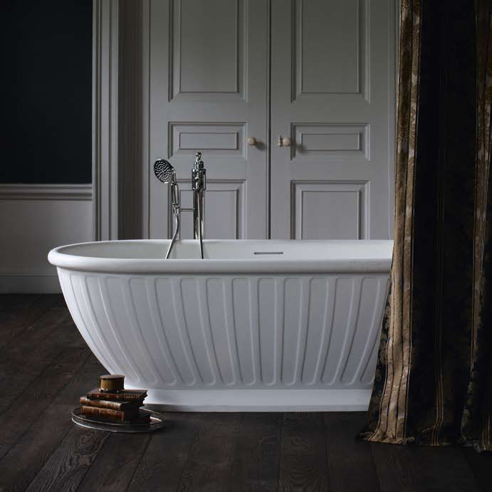 Arcade Albany Natural Stone Bath - 1690 x 800mm Feature Large Image