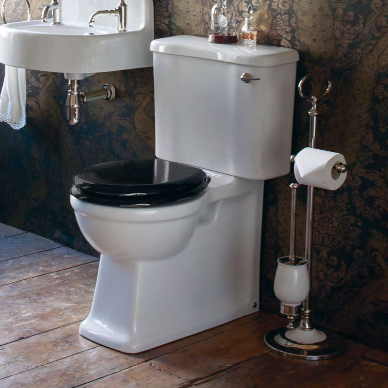 Arcade Freestanding Toilet Roll & Brush Holder - Nickel profile large image view 2