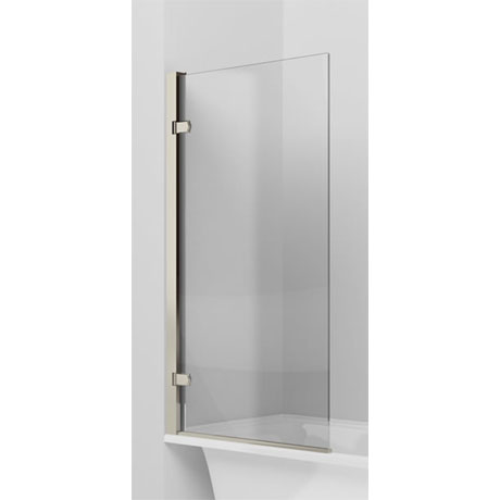 Arcade Hinged Bath Screen - Nickel - ARC45
