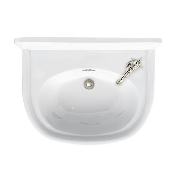 Arcade 500mm Cloakroom Basin One Tap Hole Right Hand with Overflow Large Image