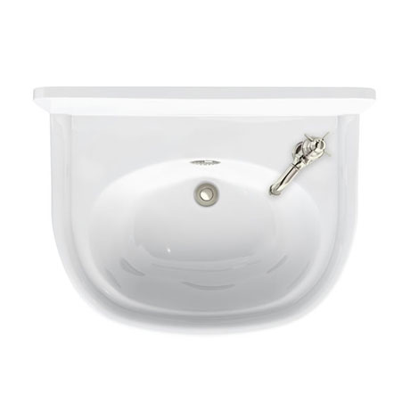 Arcade 500mm Cloakroom Basin One Tap Hole Right Hand with Overflow
