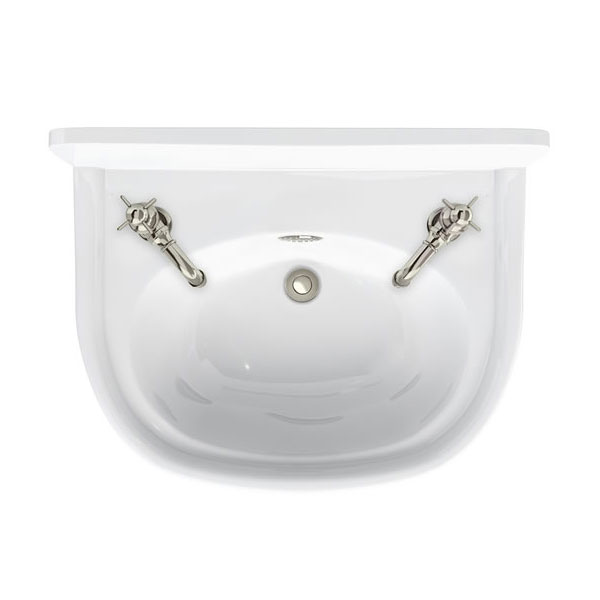 Arcade 500mm Cloakroom Basin Two Tap Hole with Overflow Large Image