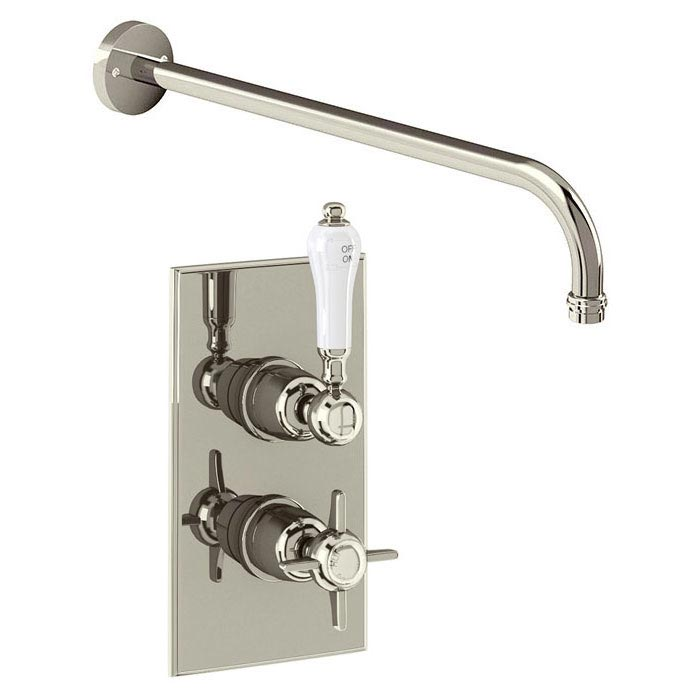Arcade Trent Single Outlet Concealed Shower Valve with Fixed Shower Arm - Nickel - ARC73 Large Image