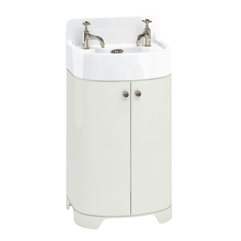 Arcade 500mm Floor Standing Vanity Unit and Basin - Sand - 2 x Tap Hole Options Large Image