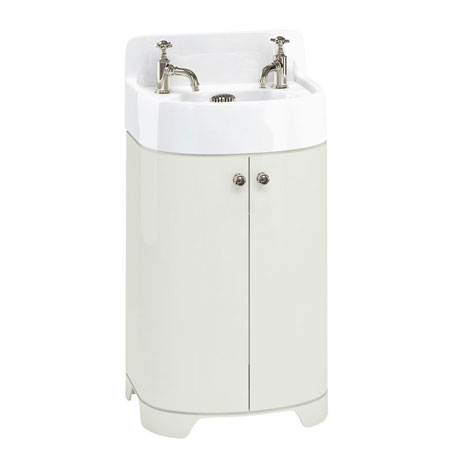 Arcade 500mm Floor Standing Vanity Unit and Basin - Sand - 2 x Tap Hole Options