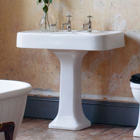 Arcade 900mm Basin and Pedestal - Various Tap Hole Options Profile Large Image
