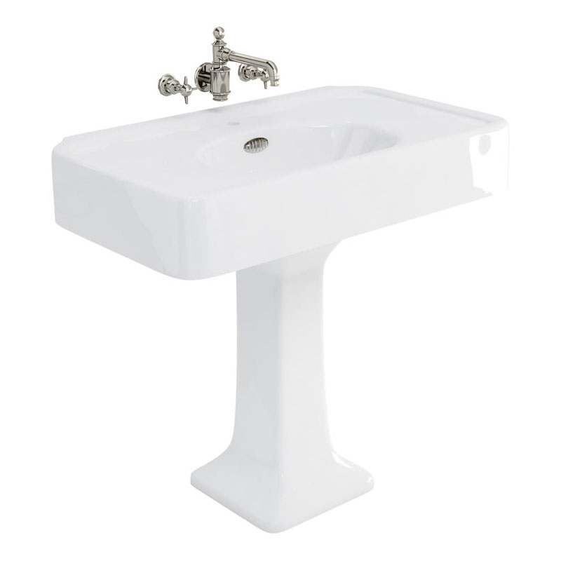 Arcade 900mm Basin and Pedestal - Various Tap Hole Options Large Image