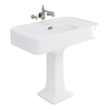 Arcade 900mm Basin and Pedestal - Various Tap Hole Options