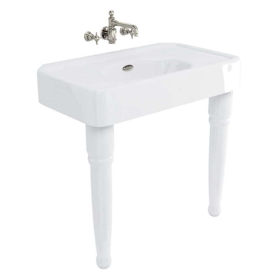 Arcade 900mm Basin and Ceramic Console Legs - Various Tap Hole Options