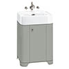 Arcade 600mm Floor Standing Vanity Unit and Basin - Dark Olive - Various Tap Hole Options profile small image view 1