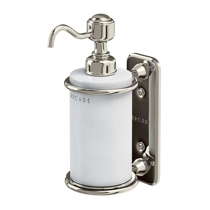 Arcade Wall Mounted Single Soap Dispenser - Nickel profile large image view 1