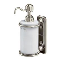 Arcade Wall Mounted Single Soap Dispenser - Nickel Medium Image