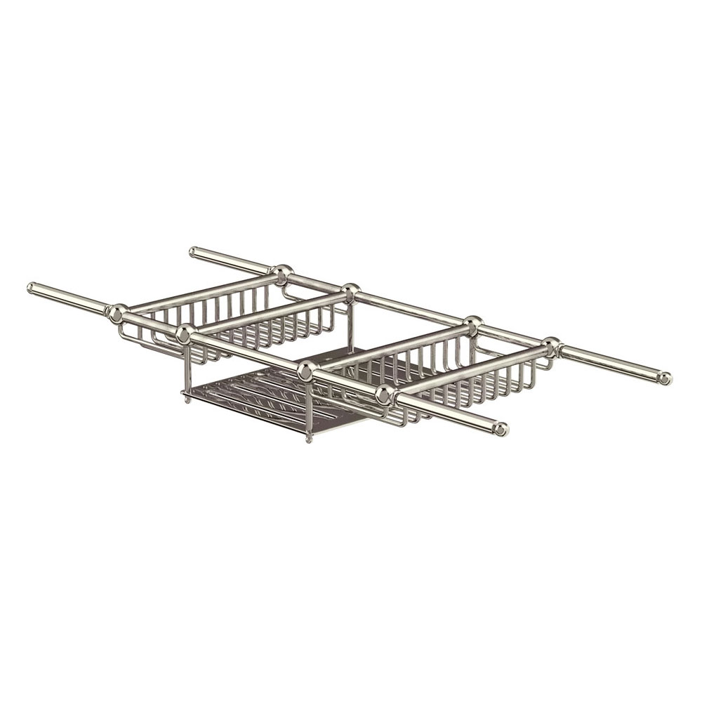 Arcade Bath Mounted Extendable Bath Rack - Nickel Large Image