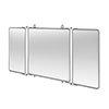 Arcade Three Fold Bathroom Mirror - Chrome - ARCA45-CHR profile small image view 1