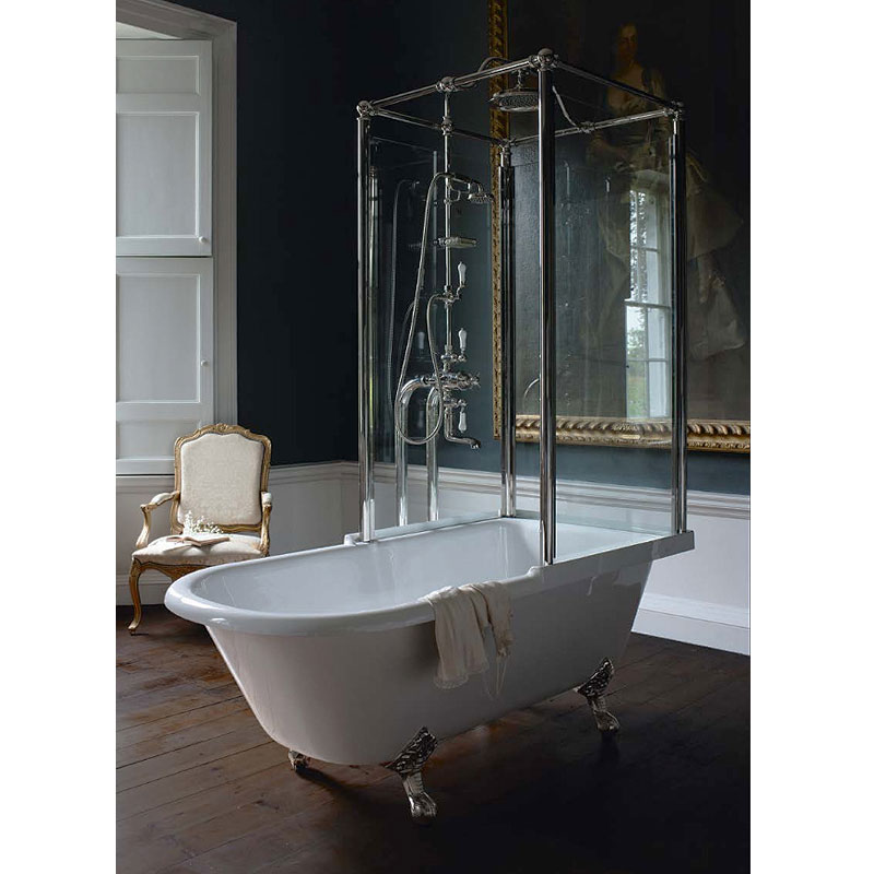 Arcade Royal Freestanding Over Bath Shower Temple - Right Hand Option In Bathroom Large Image