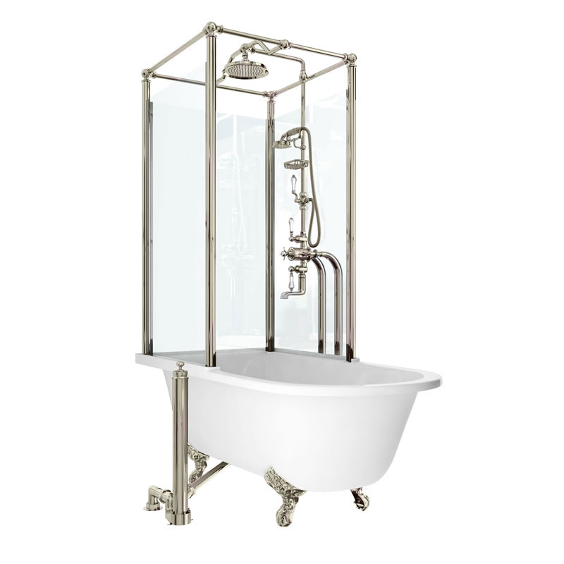 arcade royal freestanding over bath shower temple left effusio showers above free standing baths albion bath co