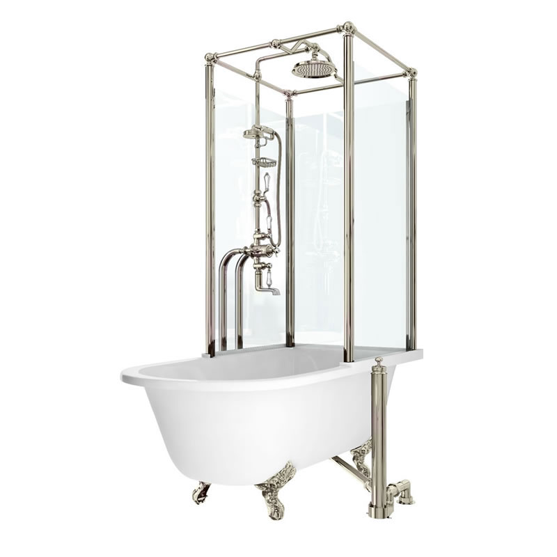 Arcade Royal Freestanding Over Bath Shower Temple - Right Hand Option Large Image