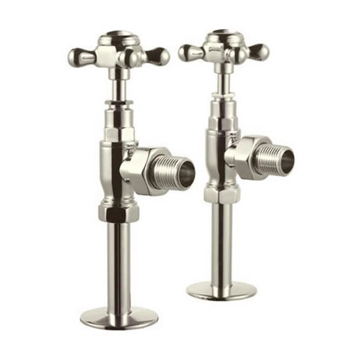 Arcade Bruton Radiator and Angled Valves - Nickel profile large image view 2