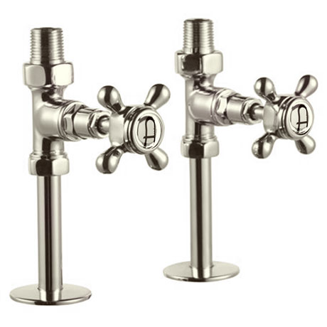 Arcade Straight Radiator Valves - Nickel