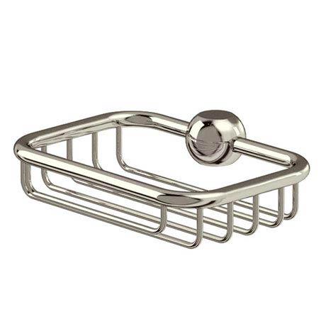 Arcade Soap Basket for Vertical Riser - Nickel