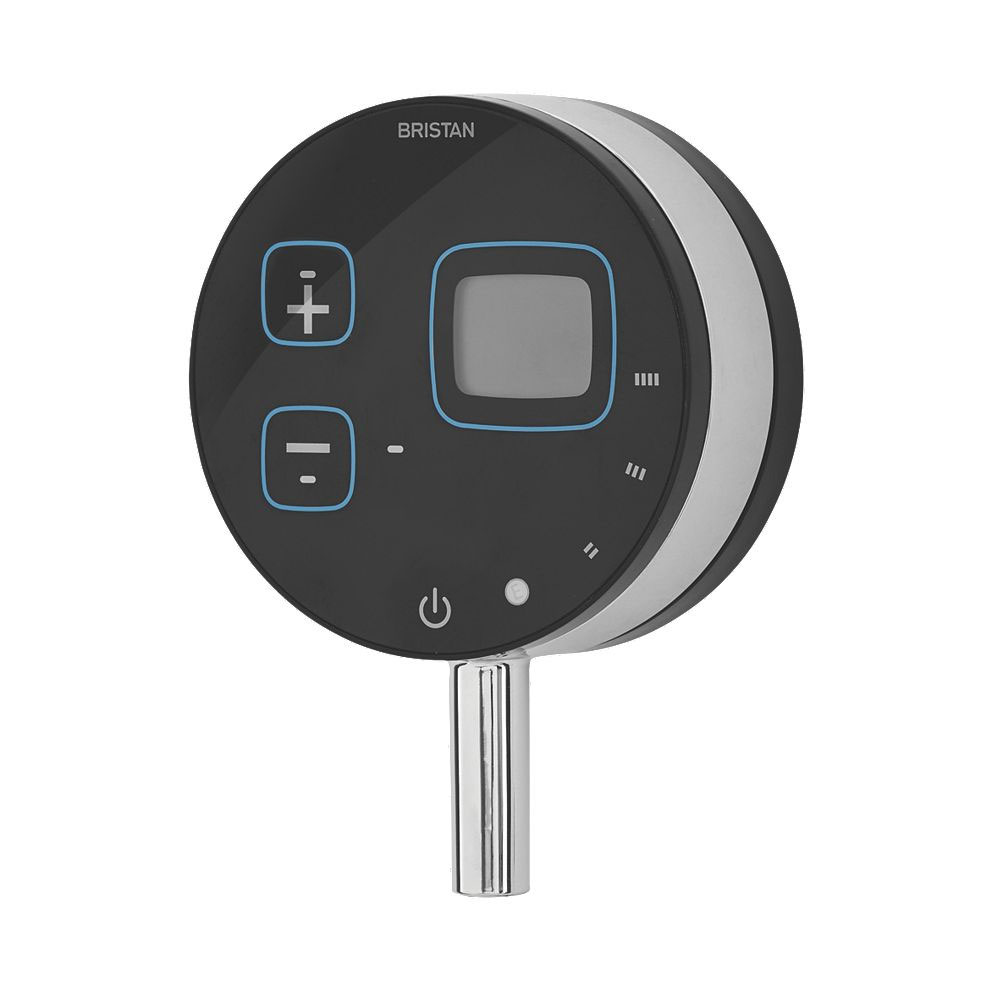 Bristan Artisan Evo Digital Thermostatic Mixer Shower with Ceiling Fed Rose - Black Profile Large Image