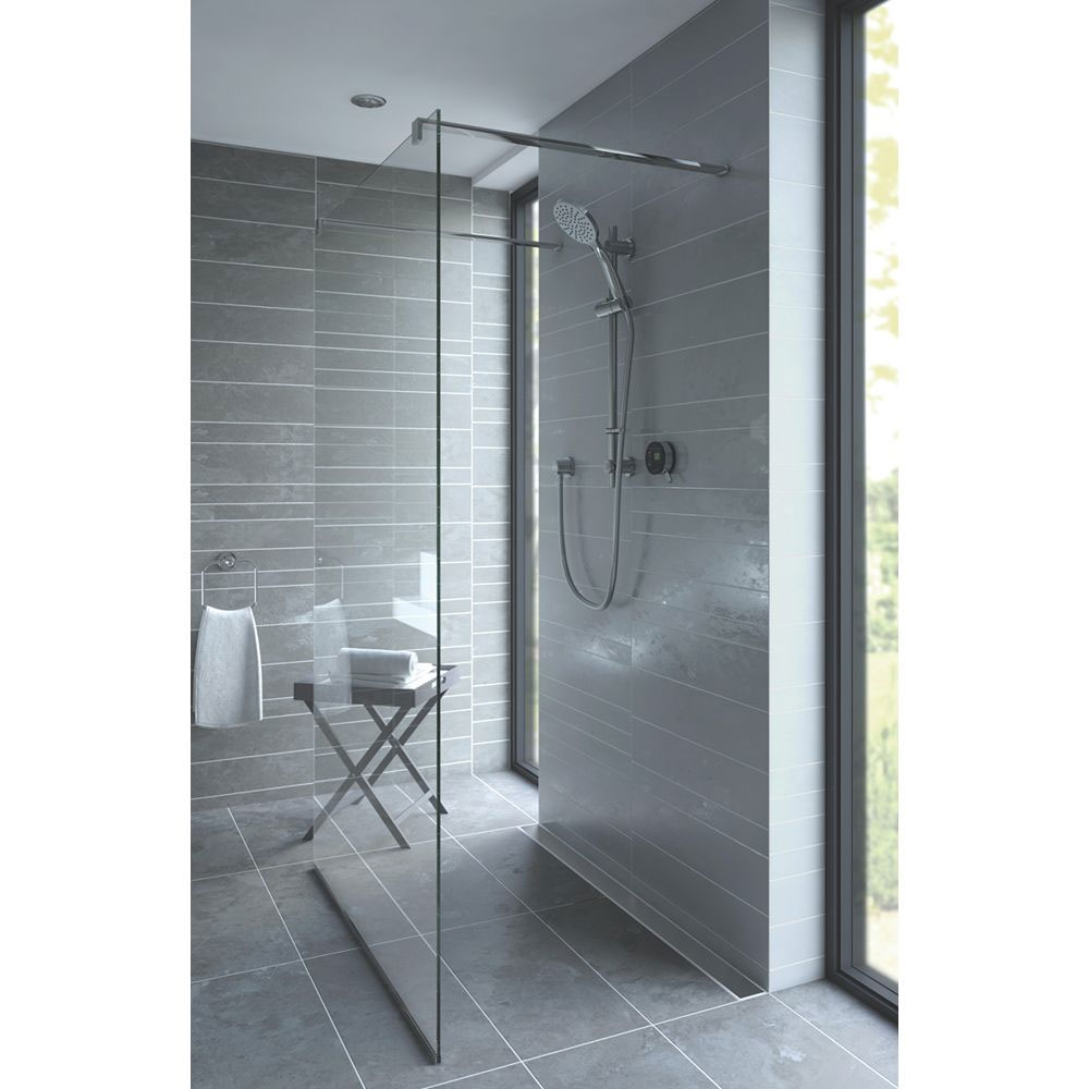 Bristan Artisan Evo Digital Thermostatic Mixer Shower with Adjustable Riser - Black profile large image view 5