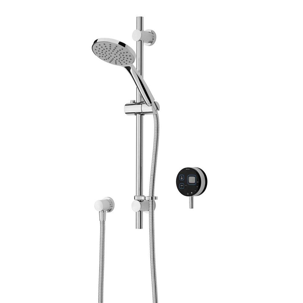 Bristan Artisan Evo Digital Thermostatic Mixer Shower with Adjustable Riser - Black profile large image view 1