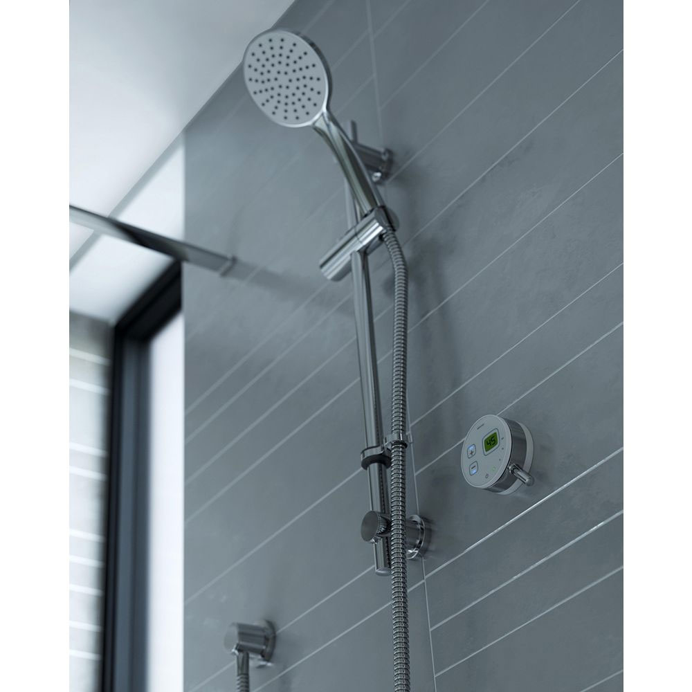 Bristan Artisan Evo Digital Thermostatic Mixer Shower with Adjustable Riser - White Standard Large Image