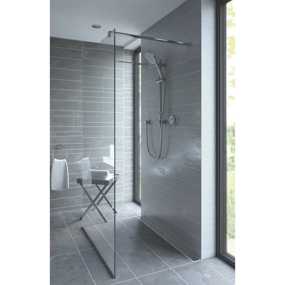 Bristan Artisan Evo Digital Thermostatic Mixer Shower with Adjustable Riser - White In Bathroom Large Image
